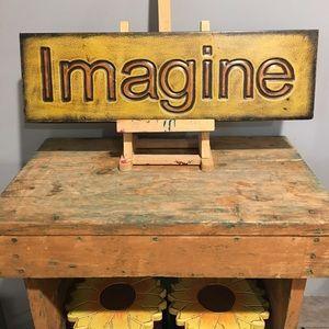Imagine Metal Sign